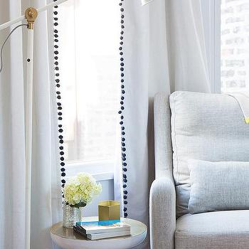 White Curtains black out white curtains : Pom Pom Curtains Design Ideas