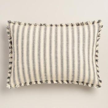 Blue And White Oversized Lumbar Throw Pillow