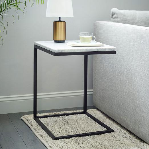 Black And White Box Frame C Base Side Table