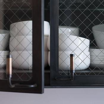 Black Metal Kitchen Cabinets with Chicken Wire and Glass Doors & Chicken Wire Cabinet Doors Design Ideas Pezcame.Com