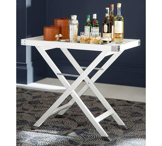 White Rectangular Bar Table