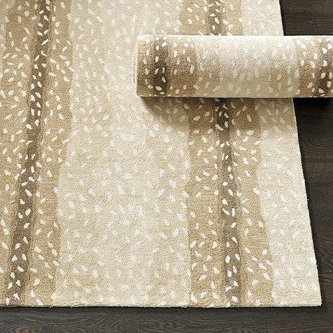 Beige antelope hand tufted rug Antelope pattern carpet