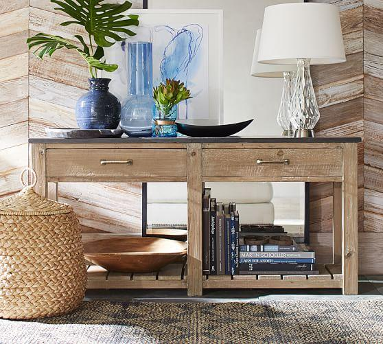 Brown And Grey Parker Reclaimed Wood Console Table