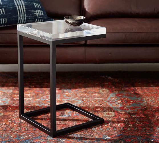 Charming Barton Black Base Clear Acrylic C Table Side Table Great Ideas
