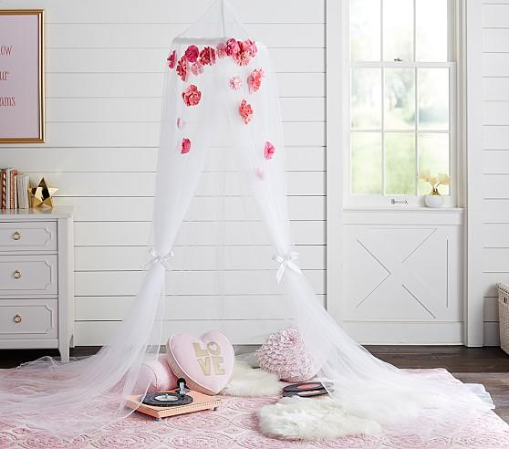 Pink And White Floral Canopy