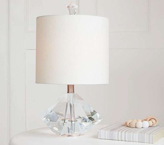 Concrete Diamond White Accent Lamp Base
