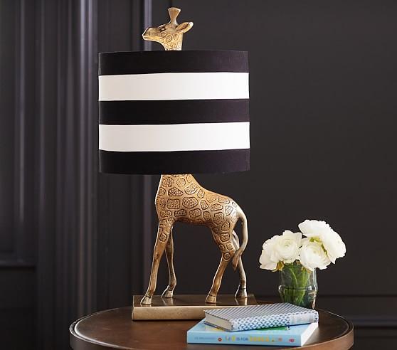 and White Emily and Meritt Giraffe Complete Lamp