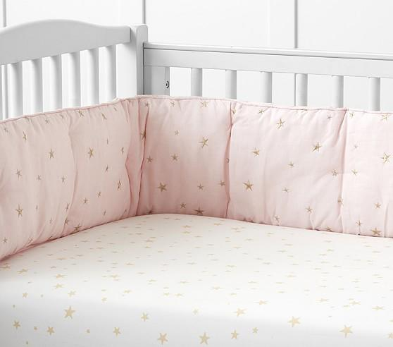 Pink Star Crib Bedding Clothing, Pink And Gold Star Bedding