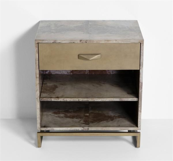 Ludlow White Distressed Bedside Table