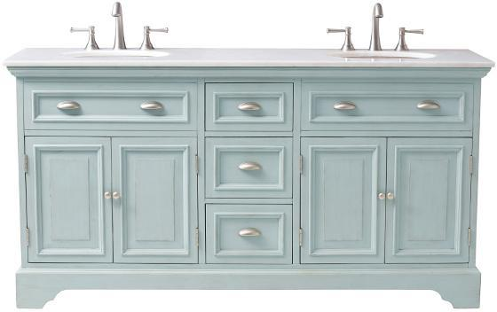 Antique Blue Sadie Double Vanity - Blue Sadie Double Vanity