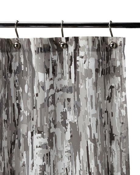 Black Limestone Shower Curtain