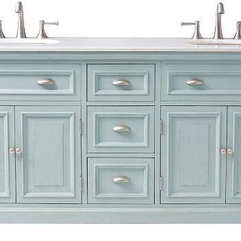 Antique Blue Sadie Double Vanity
