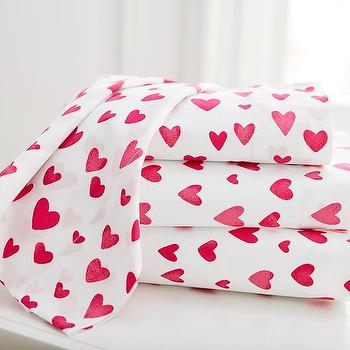 Pink Heart Sheets