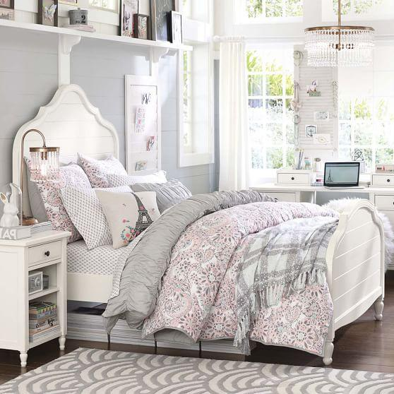 white wood panel bed 1