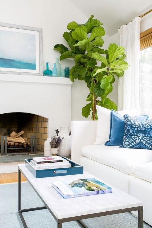 white and blue coastal living room design ideas. Black Bedroom Furniture Sets. Home Design Ideas