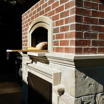 Kitchen Brick Pizza Oven Design Ideas