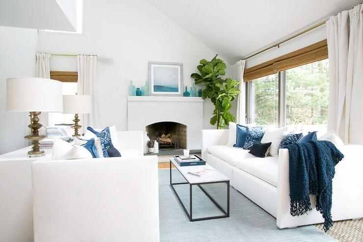white and blue living room white and blue coastal living room design ideas 19488
