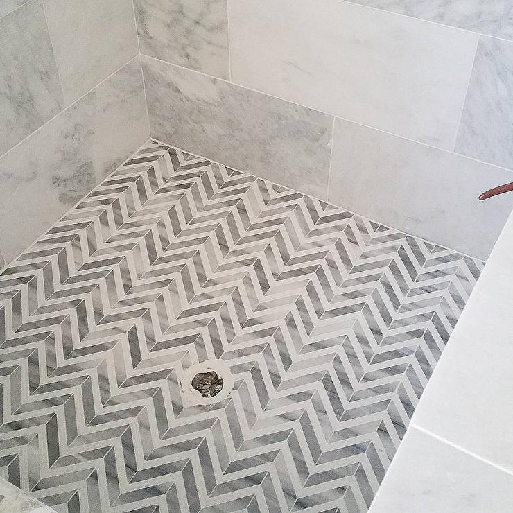 Herringbone Backsplash Contemporary Bathroom Jeff