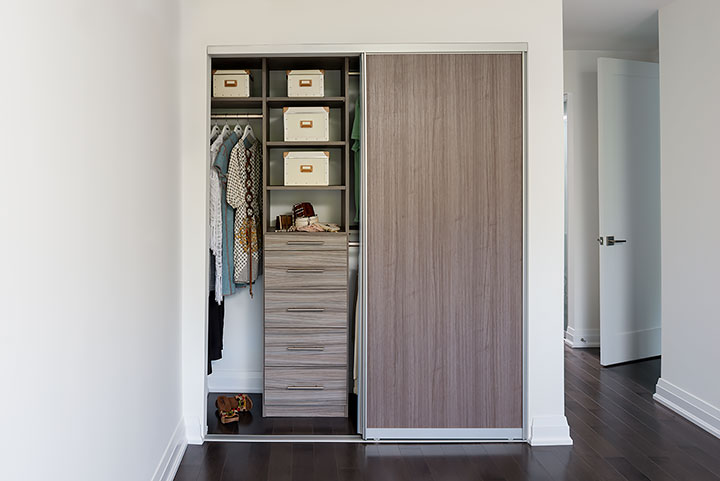 Condo Closet With Melamine Sliding Door View Full Size