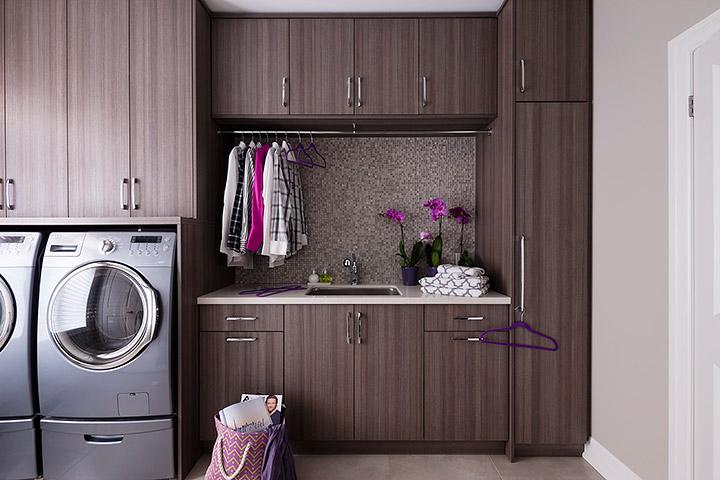 Gray Mosaic Metallic Laundry Room Backsplash Tiles