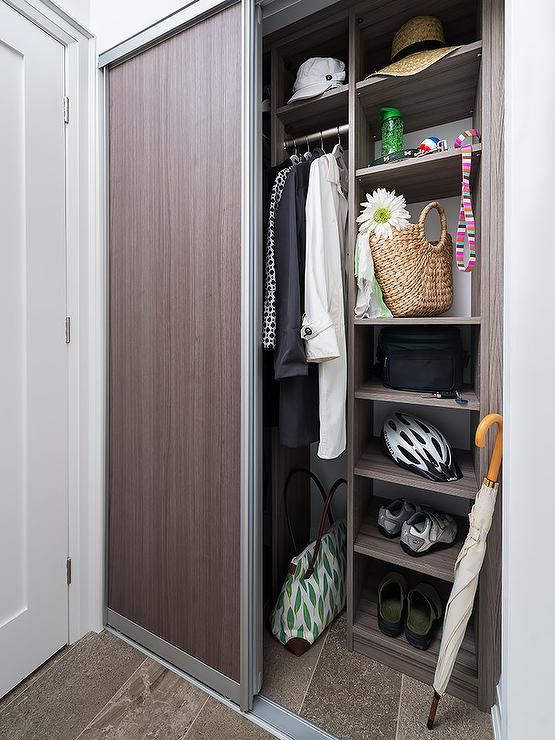 Entry with Melamine Modular Closet - Transitional - Closet