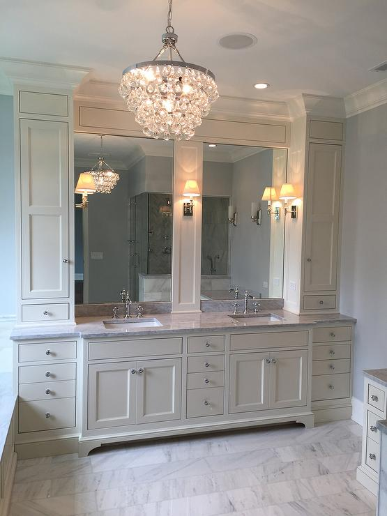 brand new 743db a4148 Ivory Master Bathroom with Robert Abbey Bling Chandelier ...