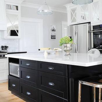 Black And White Kitchen With Island black kitchen island design ideas