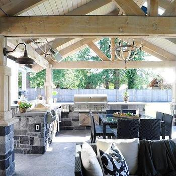 Covered Outdoor Kitchen Design Ideas