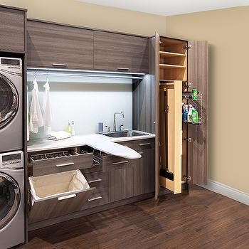 Laundry Room With Pull Out Folding Station Transitional