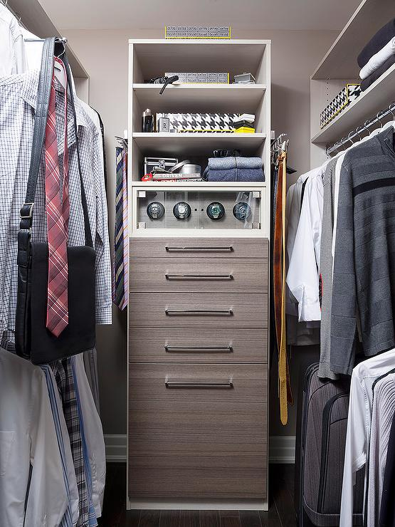 Men Closet Design With Melamine Dresser