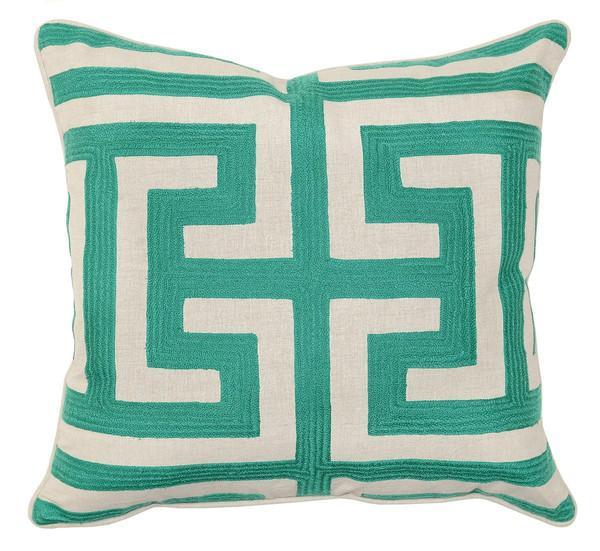 Key Decorative Pillow : Green Tree Pillow