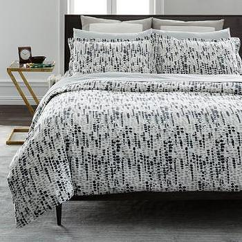 Tribal Geometric Pattern Black And White Duvet Cover
