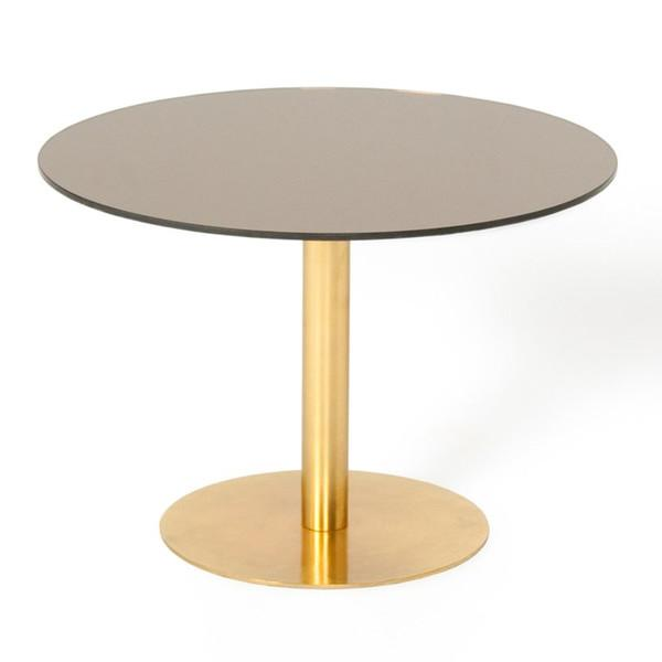 Superb Brass Flash Round Table