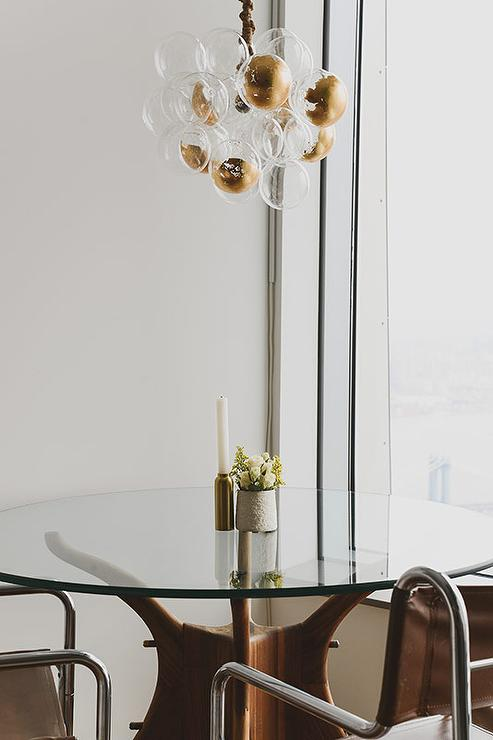 Brass and Glass Bubbles Chandelier. Brass and Glass Bubbles Chandelier   Transitional   Dining Room