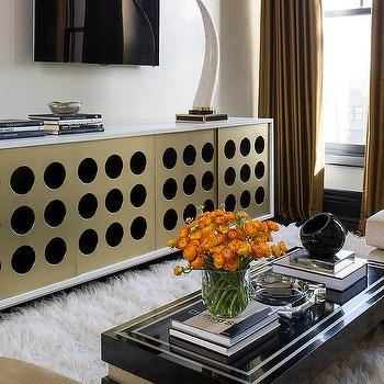 Black And Gold Living Room With Gold Curtains