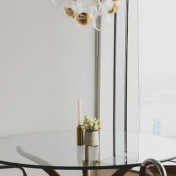 Round Glass Top Dining Table Design Ideas - Cb2 glass top dining table