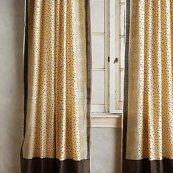 Nate Berkus Metallic Gold And Cream Curtain Panel