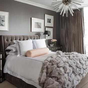 Gray Glam Bedroom Design Ideas