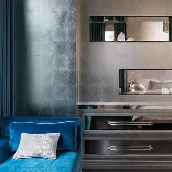 Silver And Blue Curtains Design Ideas