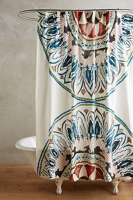 Multicolor Seraphita Shower Curtain