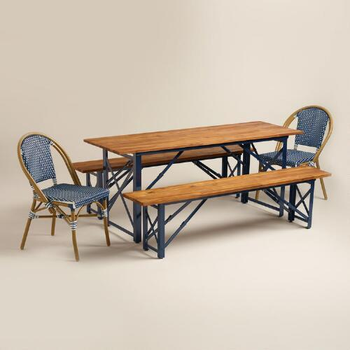 Blue Outdoor Bistro Collection