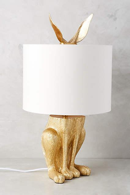 Gold gilded hare lamp ensemble aloadofball Image collections