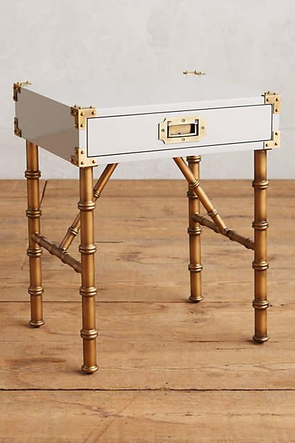 White Lacquered Wellington End Table