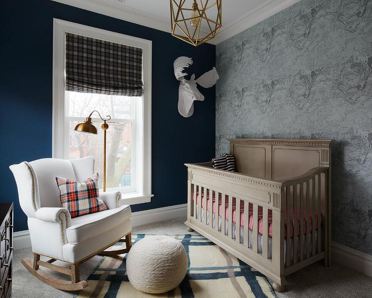 Blue nursery with christian lacroix voyage wallpaper country nursery blue nursery with christian lacroix voyage wallpaper gumiabroncs Gallery