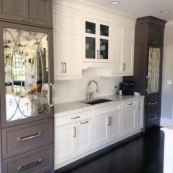Mirrored Kitchen Cabinets Design Ideas