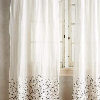 Black Lattice Embroidered Curtain