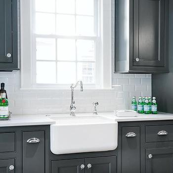 Small Deep Farmhouse Sink With Vintage Style Faucet