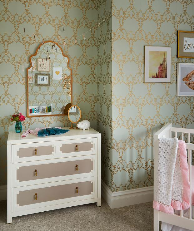 Pink Mint And Gold Nursery: Interior Design Inspiration Photos By Lonny Magazine