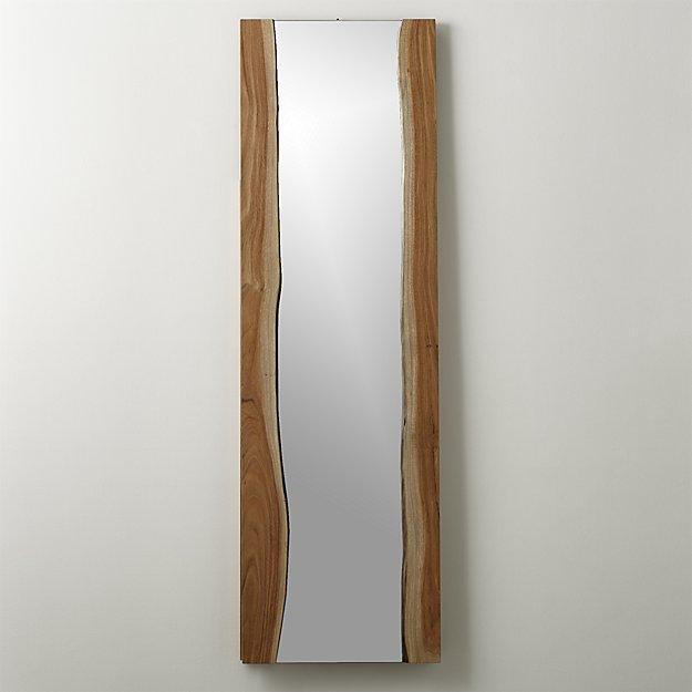 Brown Live Edge Floor Mirror