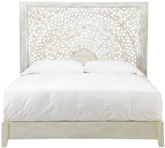 White Wood Bed ~ White wash chennai bed